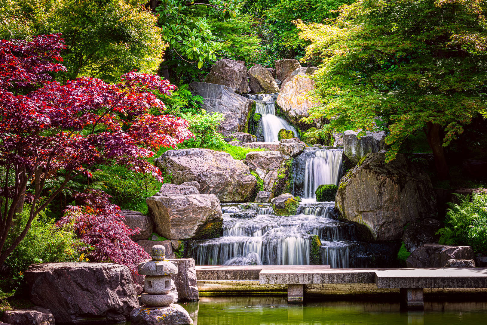 A visit to the waterfall in Holland Park from The Carlton Tower Jumeirah