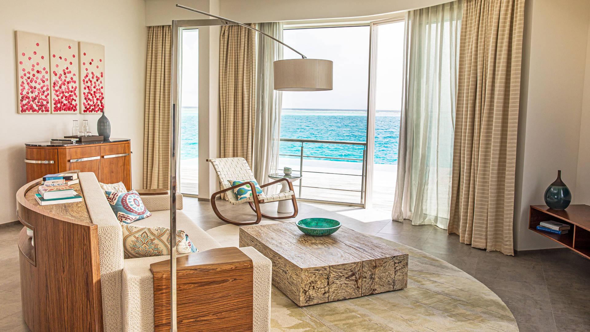 Striking interiors at Jumeirah Maldives