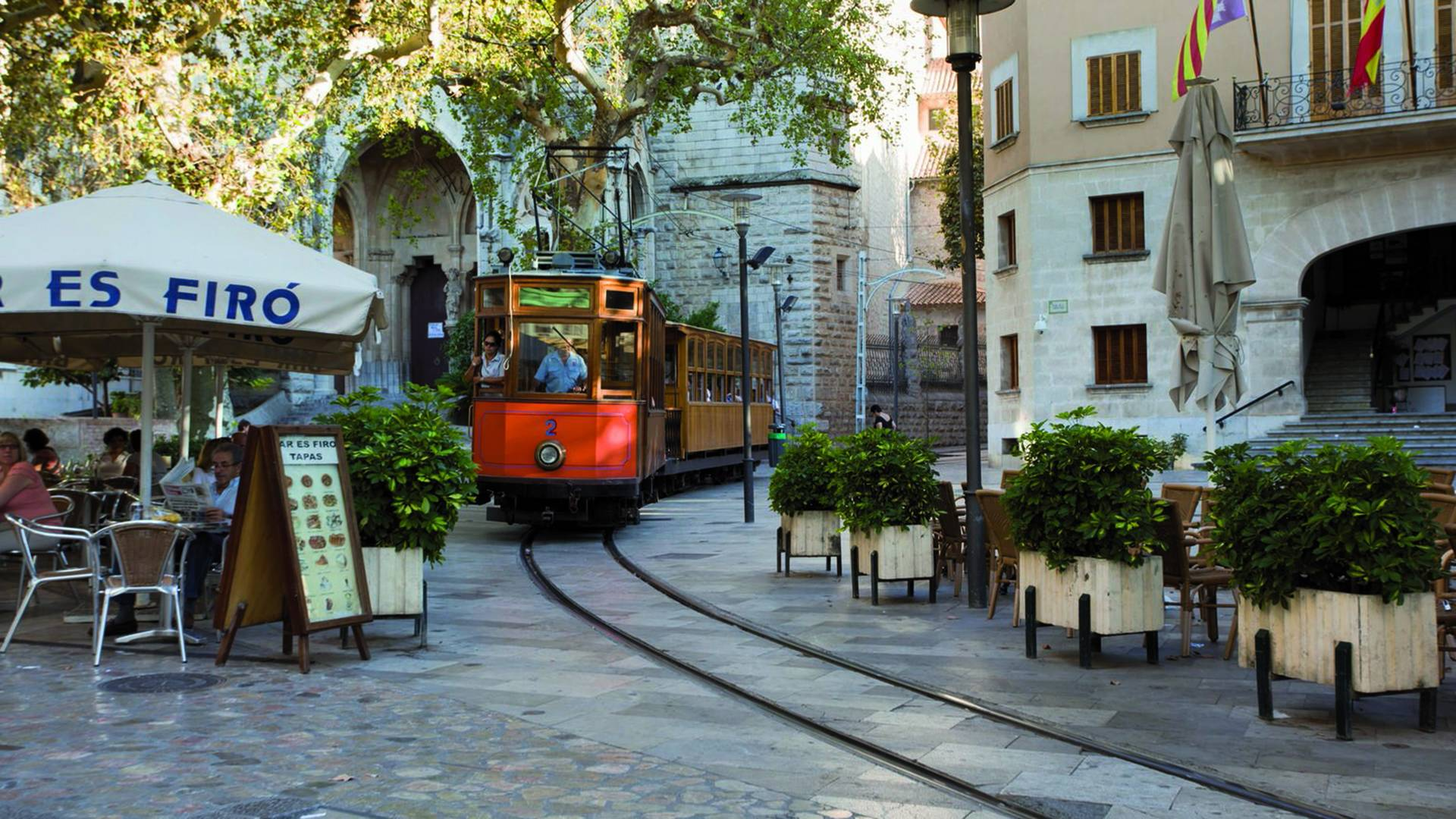 Regional wooden train on Mallorca