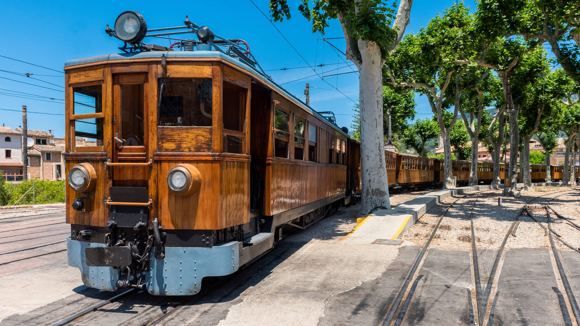 Old train in Soller, Mallorca