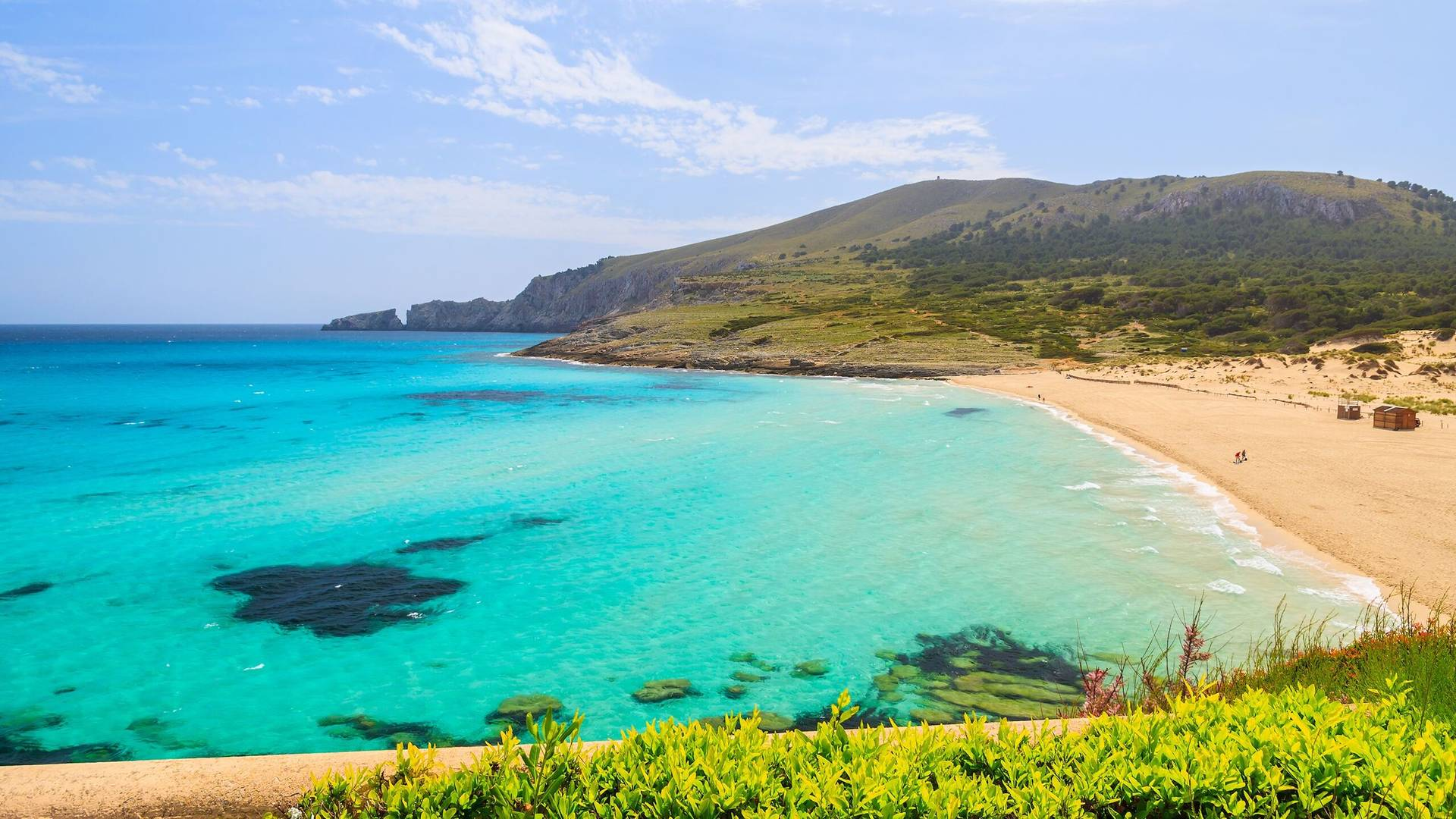 A beach on a smaller Balearic Islands
