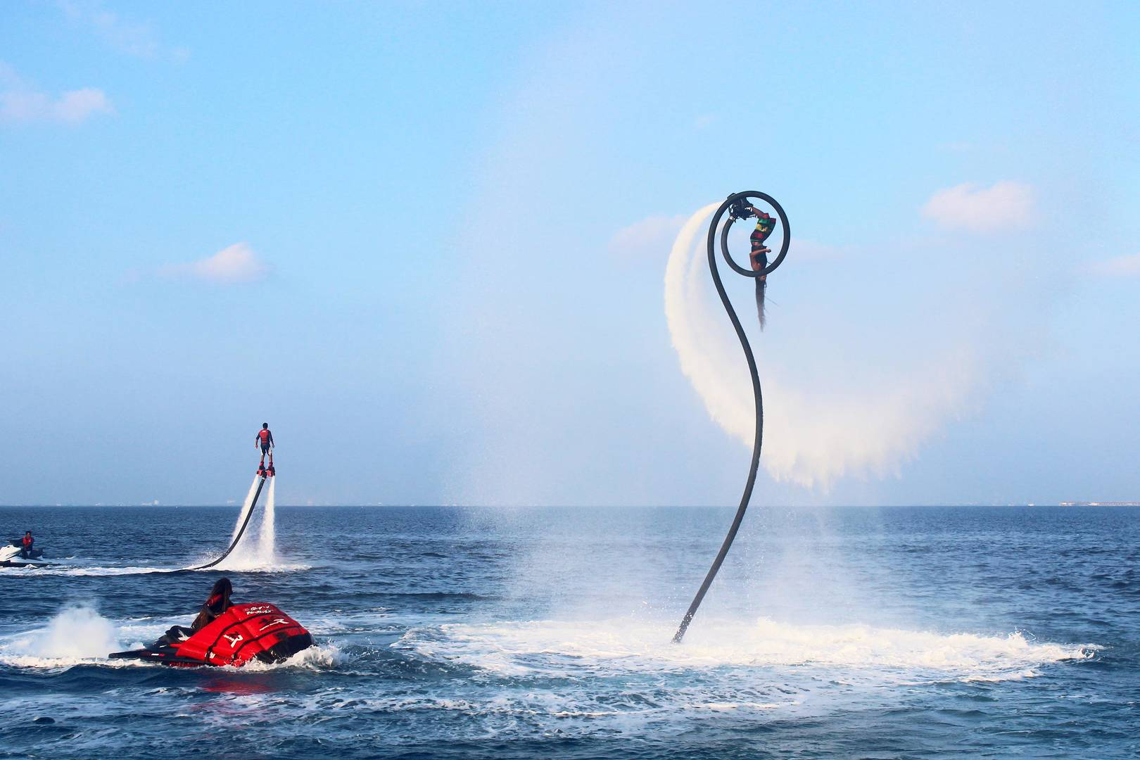 Man flyboarding