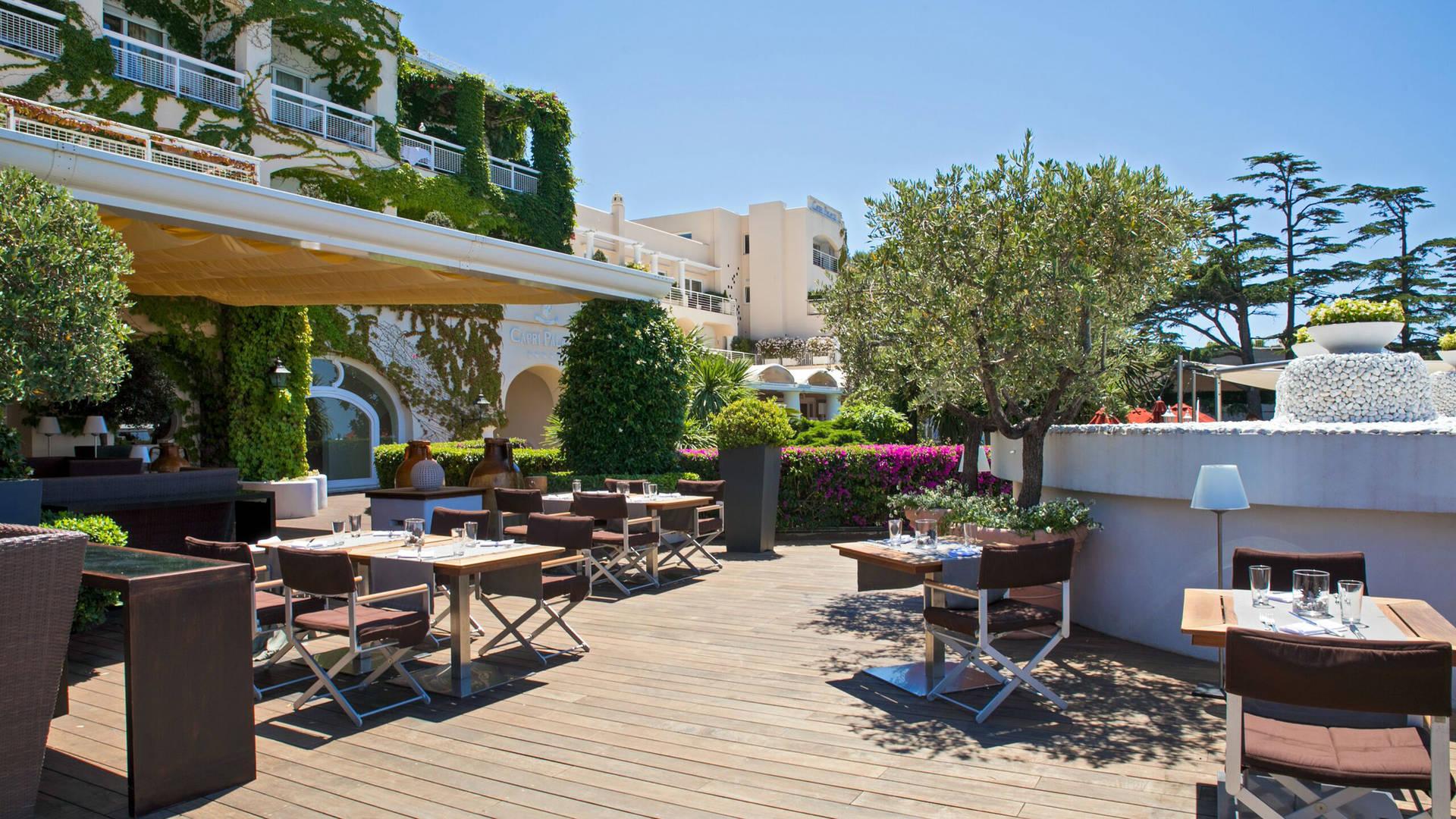 Jumeirah Capri Palace Bistrot Ragu Outdoor Dining Area