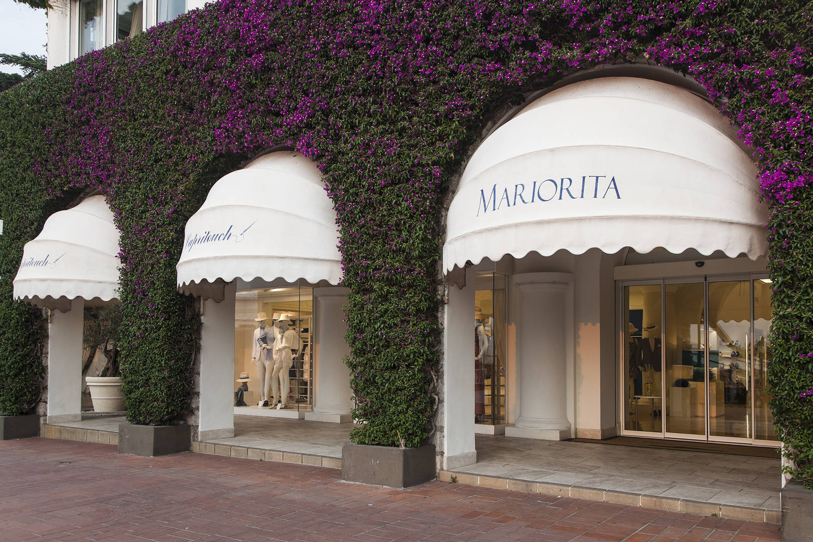 Boutique exterior on Capri