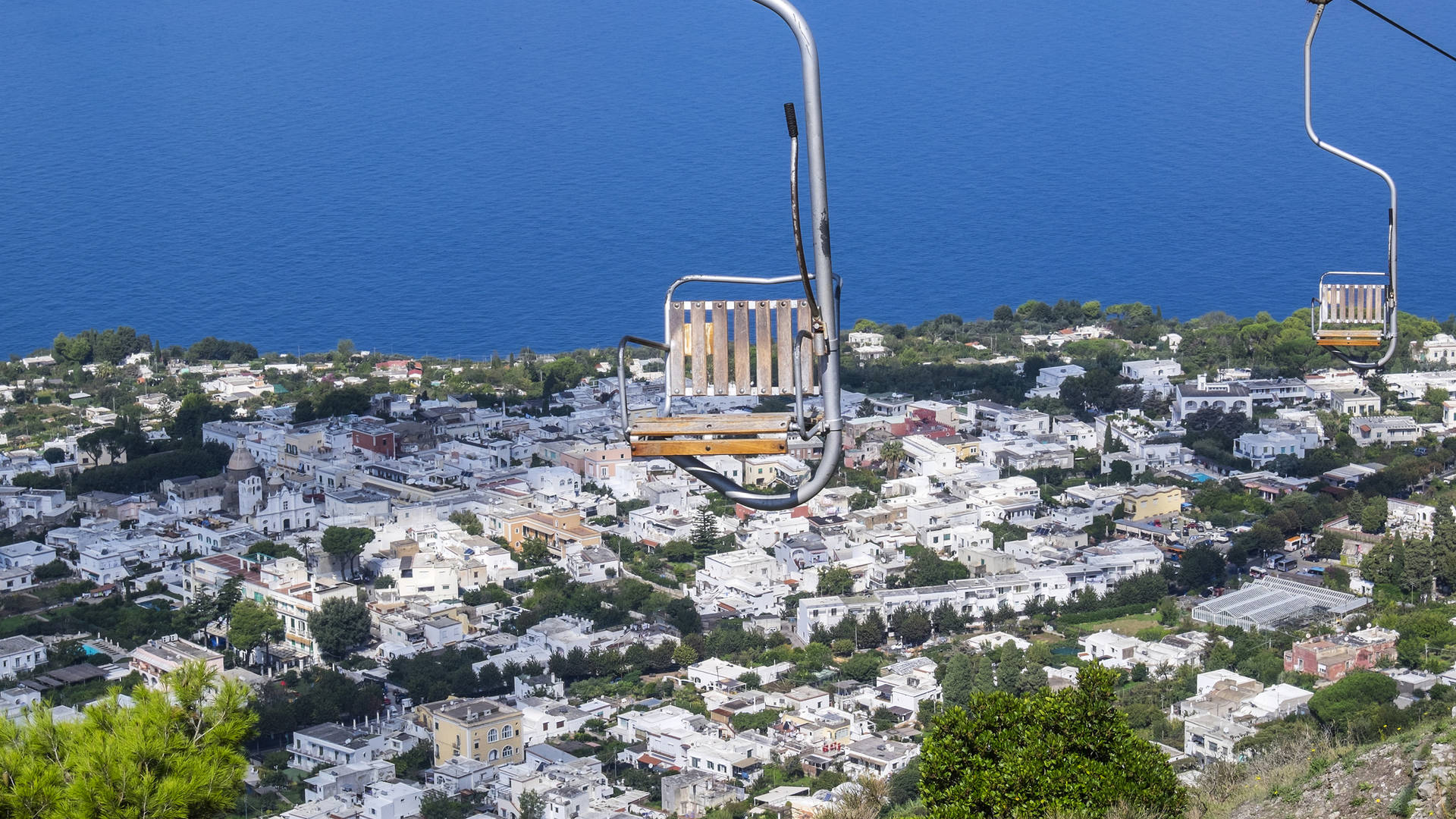Skilift up Capri Island