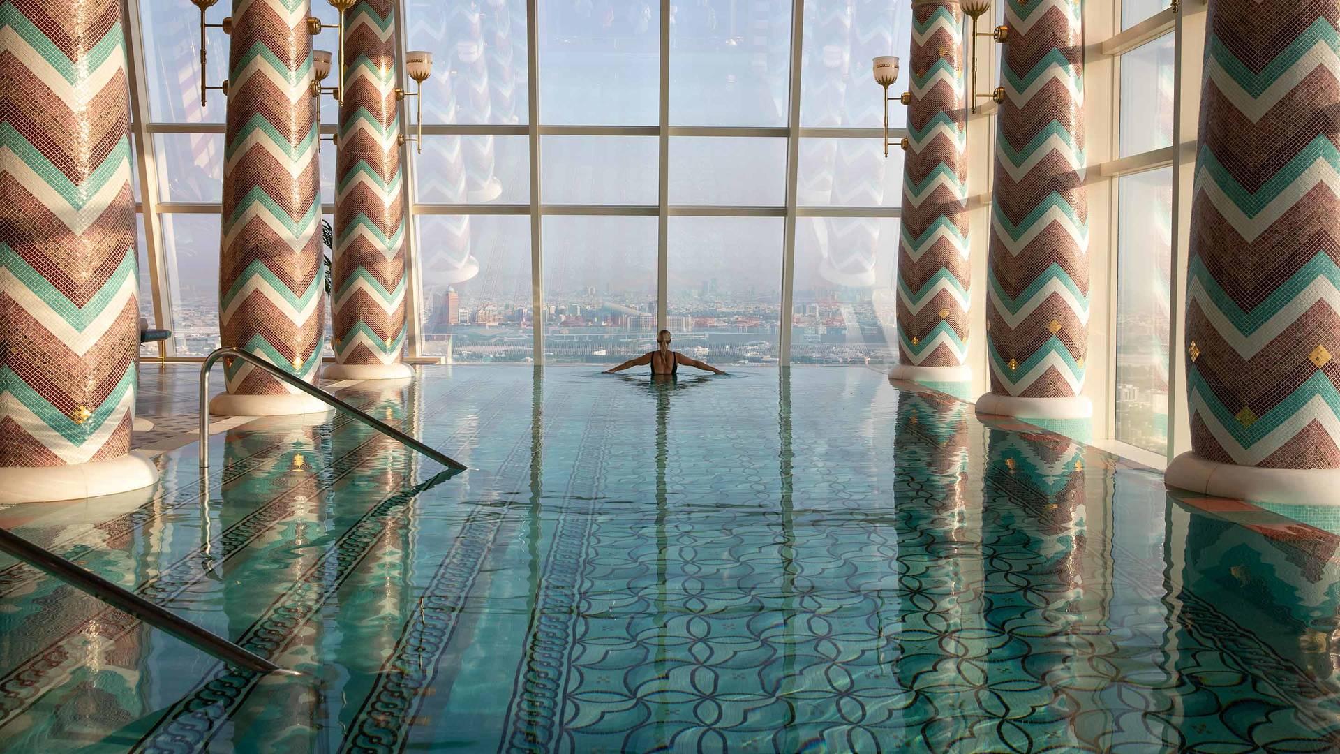 برج العرب جميرا، حمام السباحة 3 بمنتجع تاليس سبا الصحي_6-4
