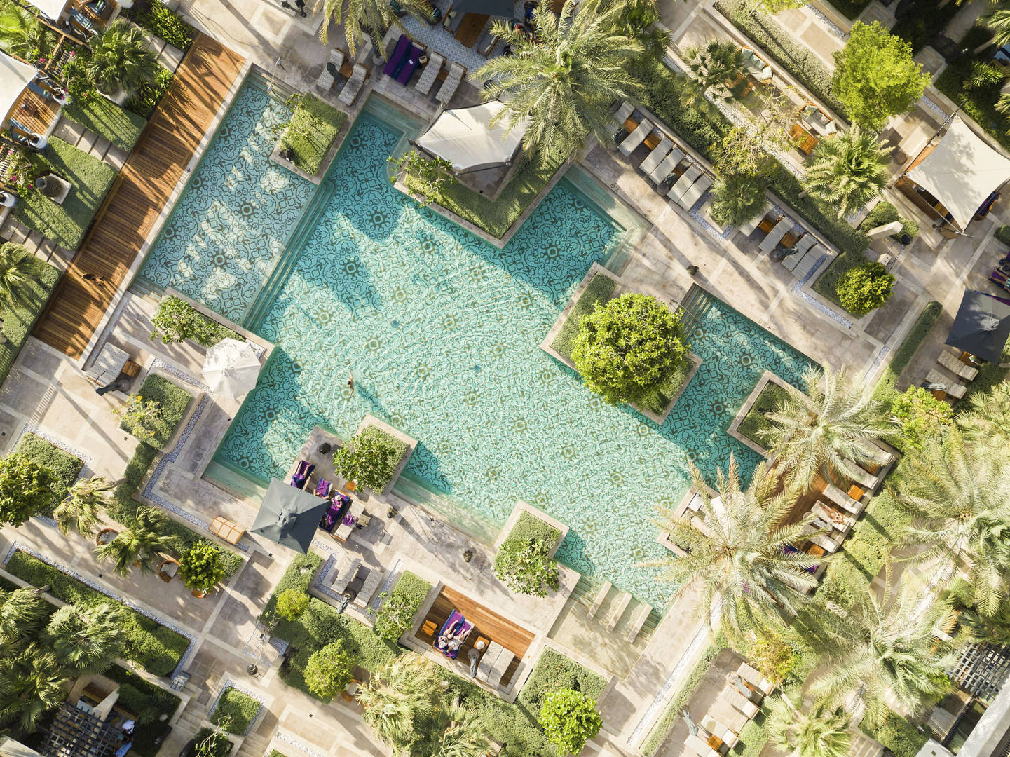 Aerial view of Jumeirah Al Naseem's pools