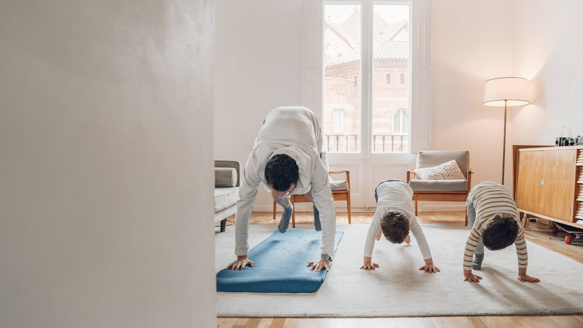 Exercising with children at home