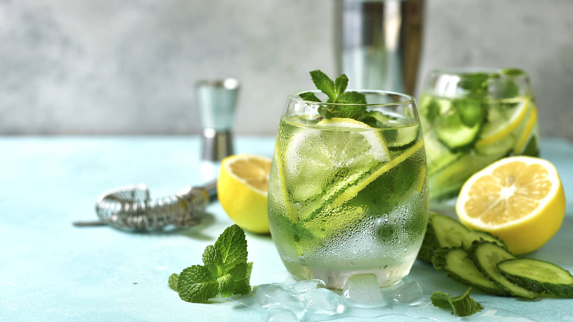 A mocktail made with mint