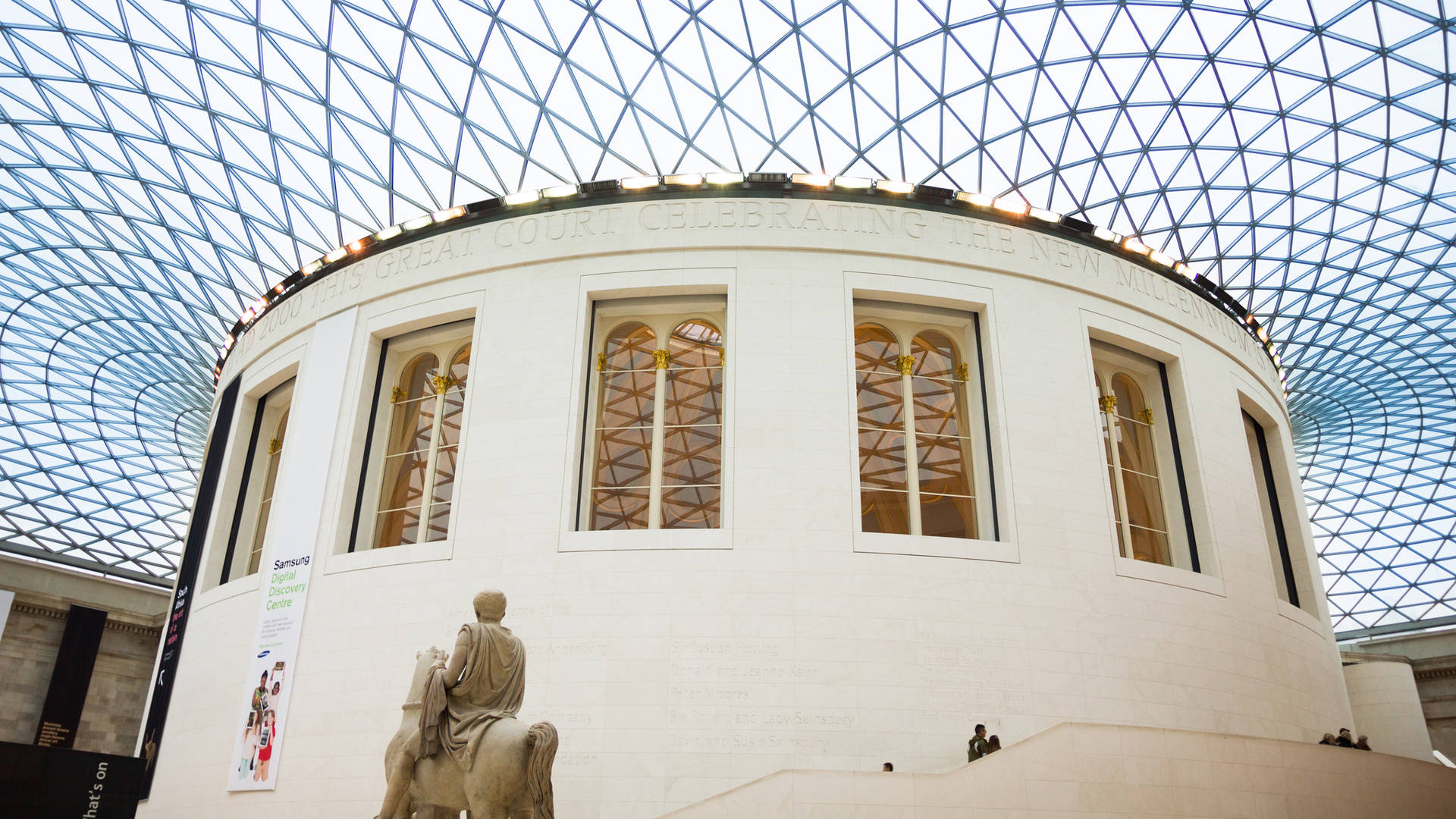 The roof of the British Museum
