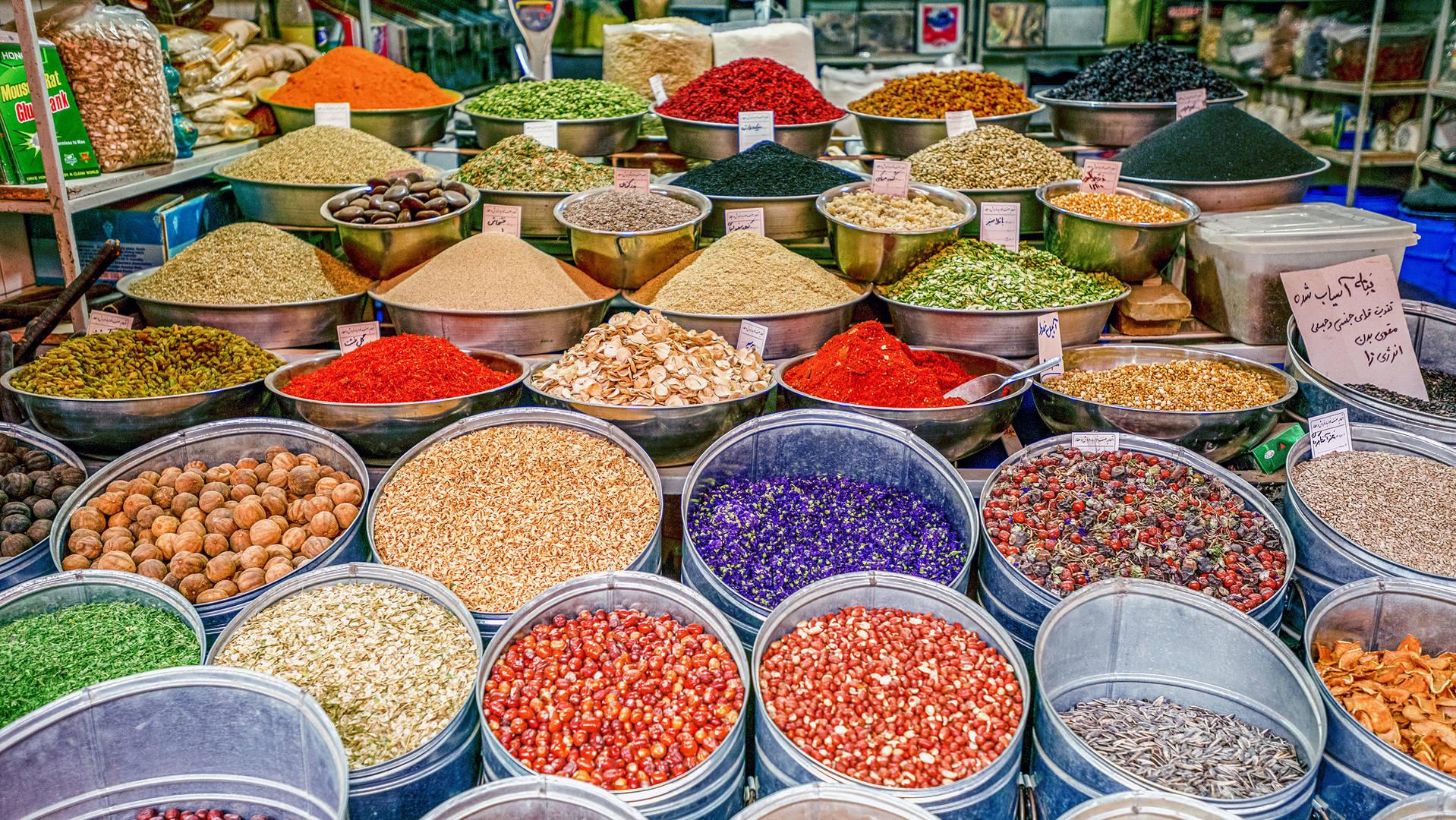 Middle Eastern spice market