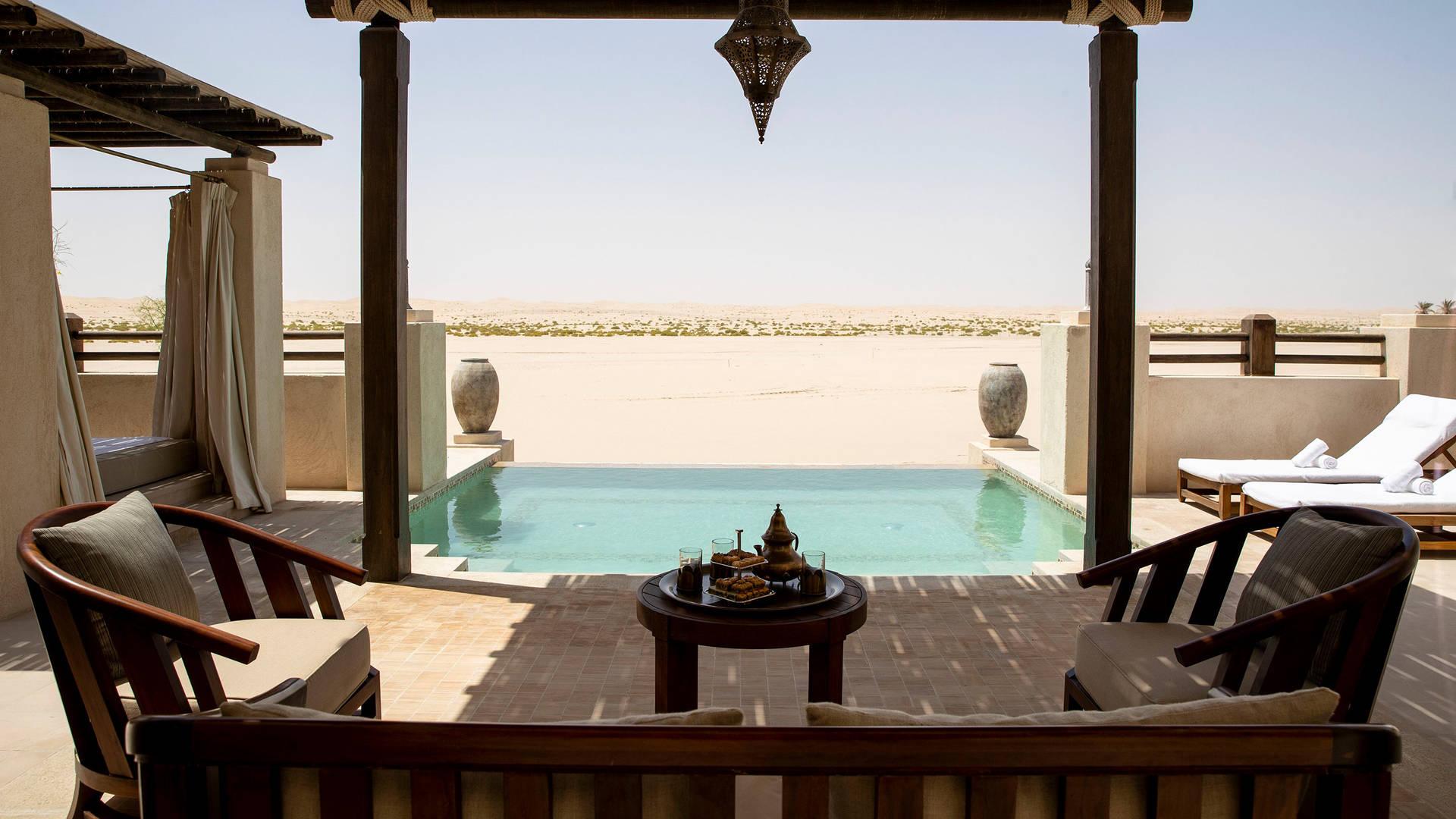 Pool der Villa mit einem Schlafzimmer im Jumeirah Al Wathba Desert Resort & Spa