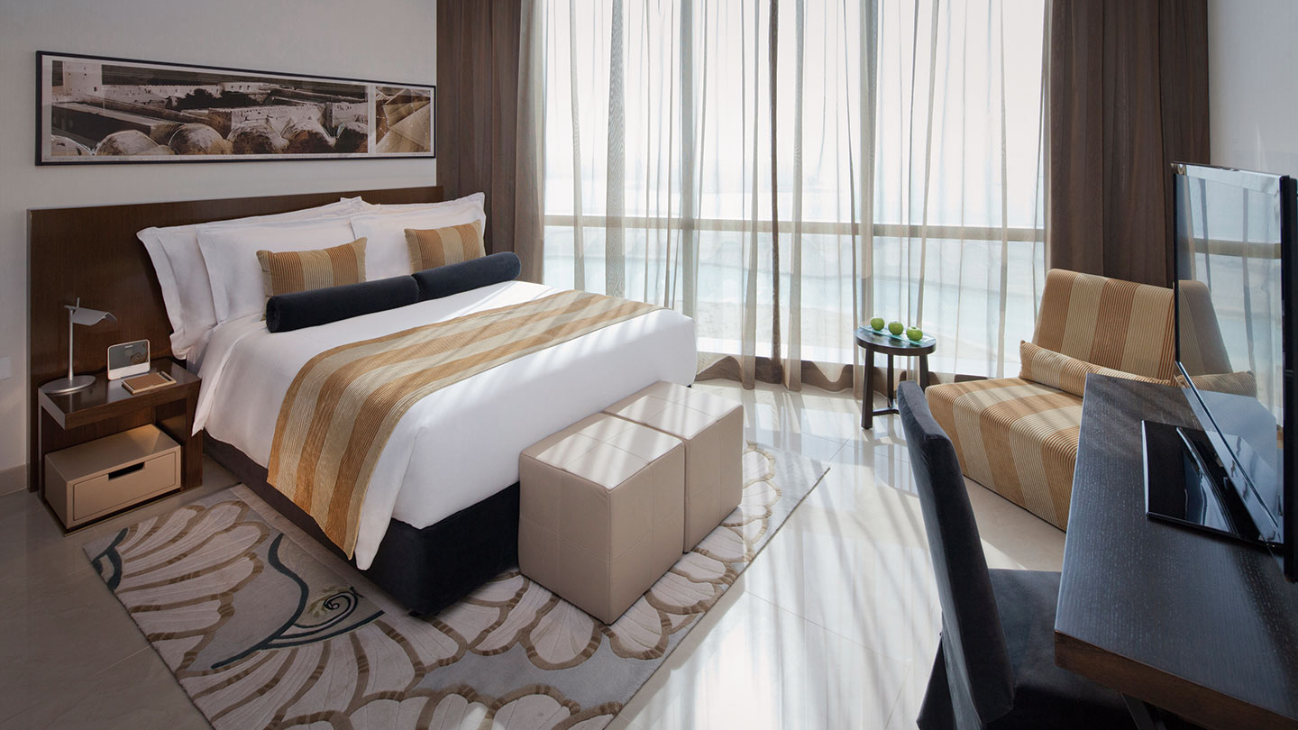 Bedroom of 1 bedroom residence at Jumeirah at Etihad Towers