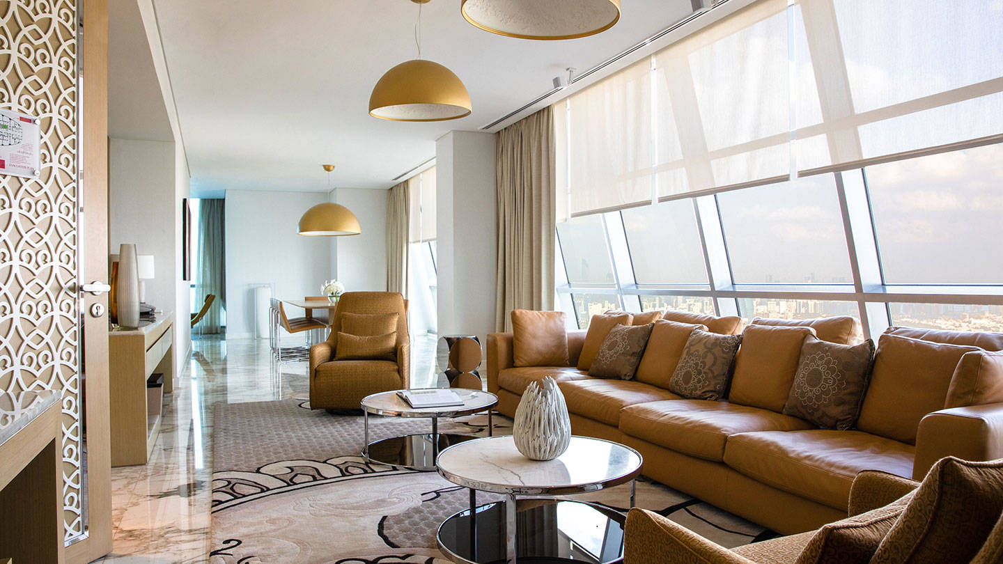 Jumeirah at Etihad Towers Sky Suite Lounge Area