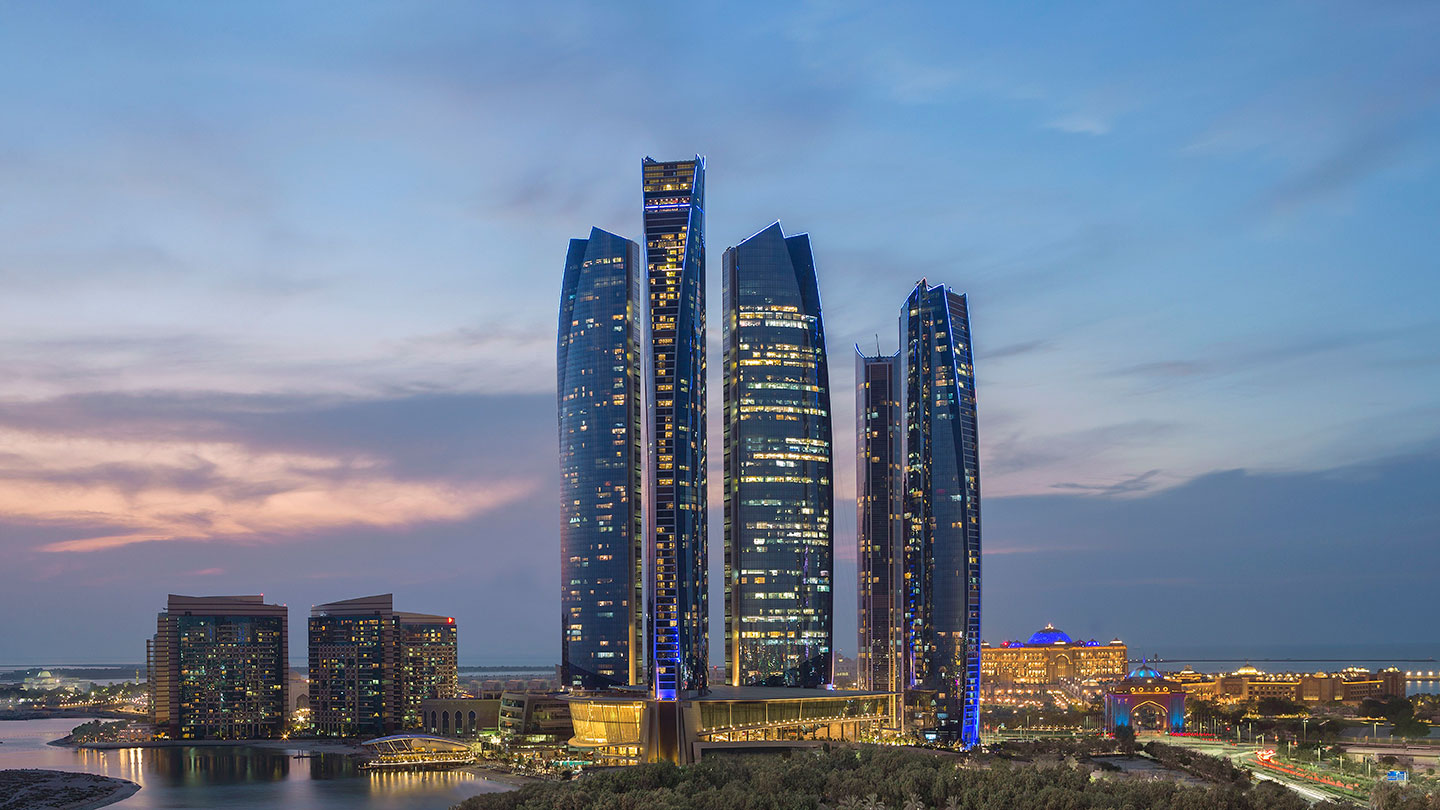 Jumeirah at Etihad Towers Evening Skyline