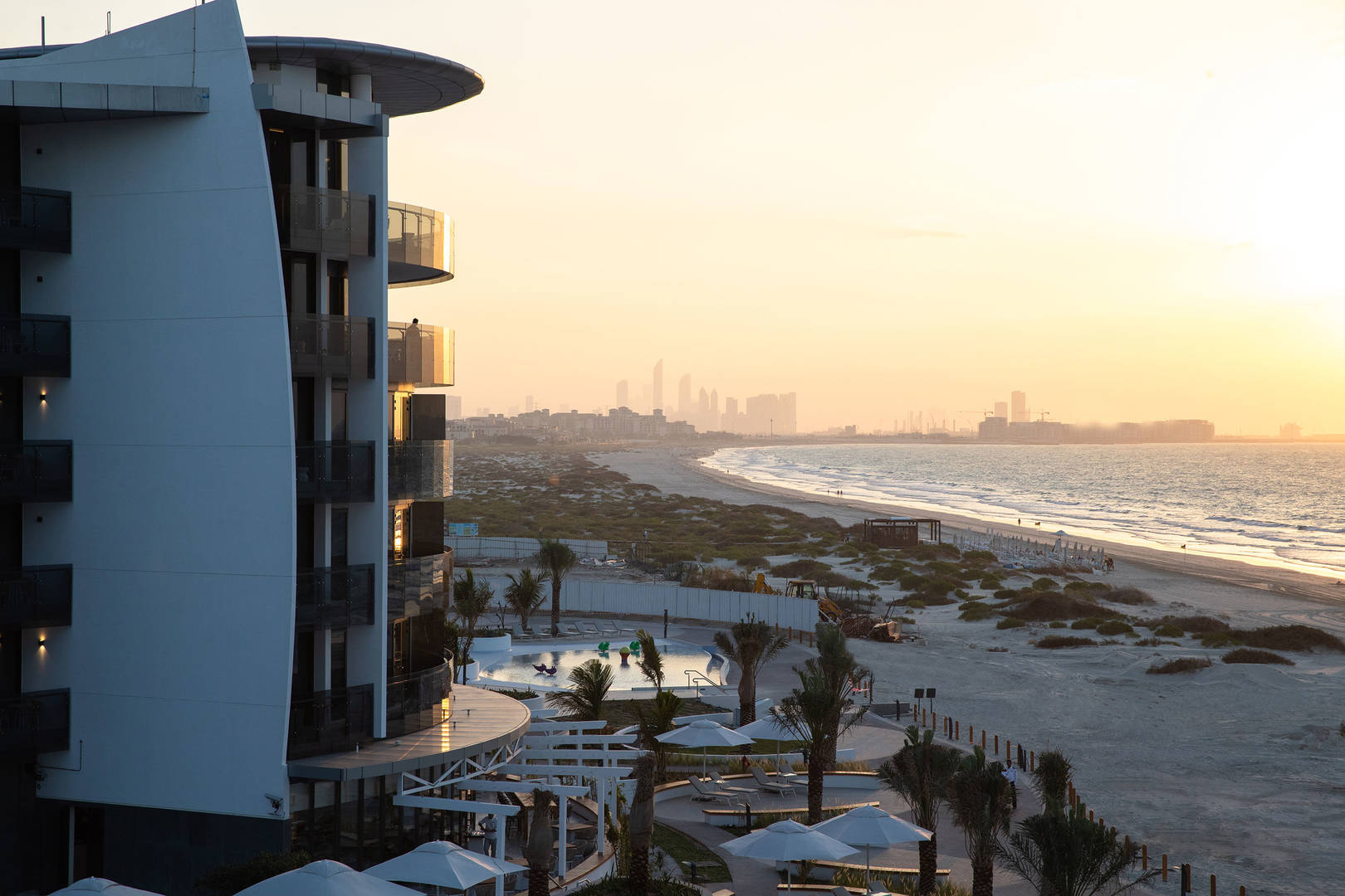 View of the beach at Jumeirah Saadiyat Island Resort