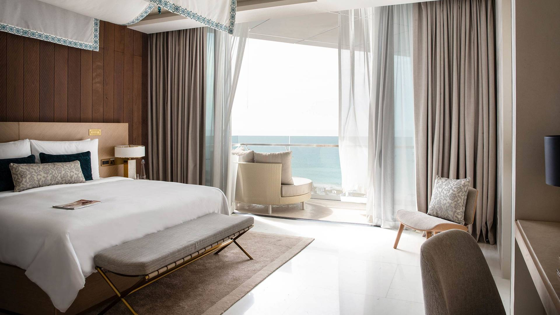 View at the Abu Dhabi Suite bedroom at Jumeirah Saadiyat Island Resort