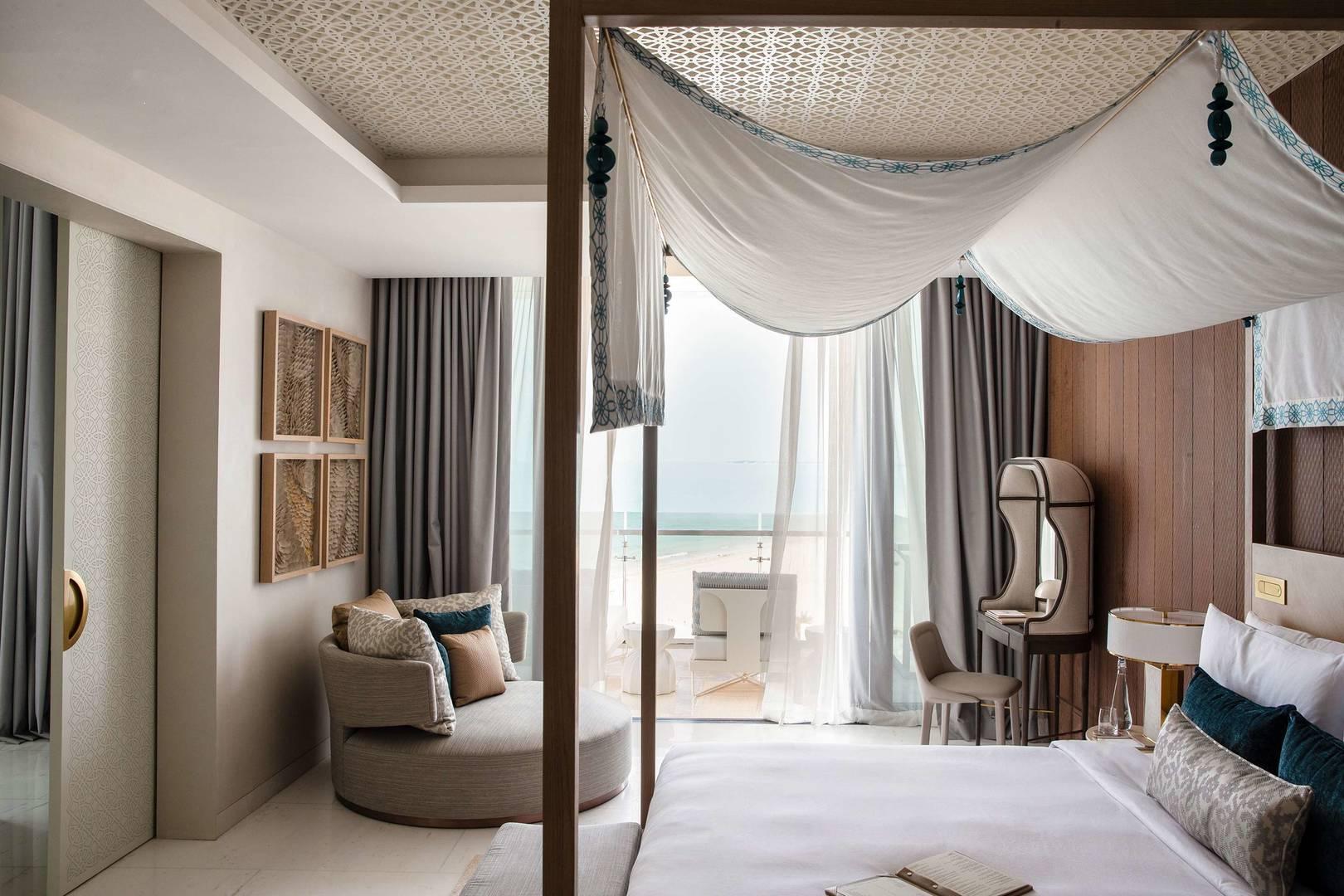 View at the king bedroom in Abu Dhabi Suite at Jumeirah Saadiyat Island Resort