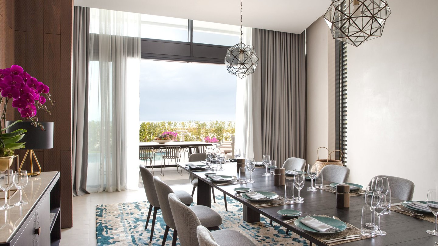 Four Bedroom Villa dining area of Jumeirah at Saadiyat Island Resort