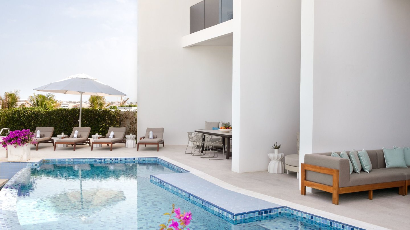 Four Bedroom Villa private pool of Jumeirah at Saadiyat Island Resort