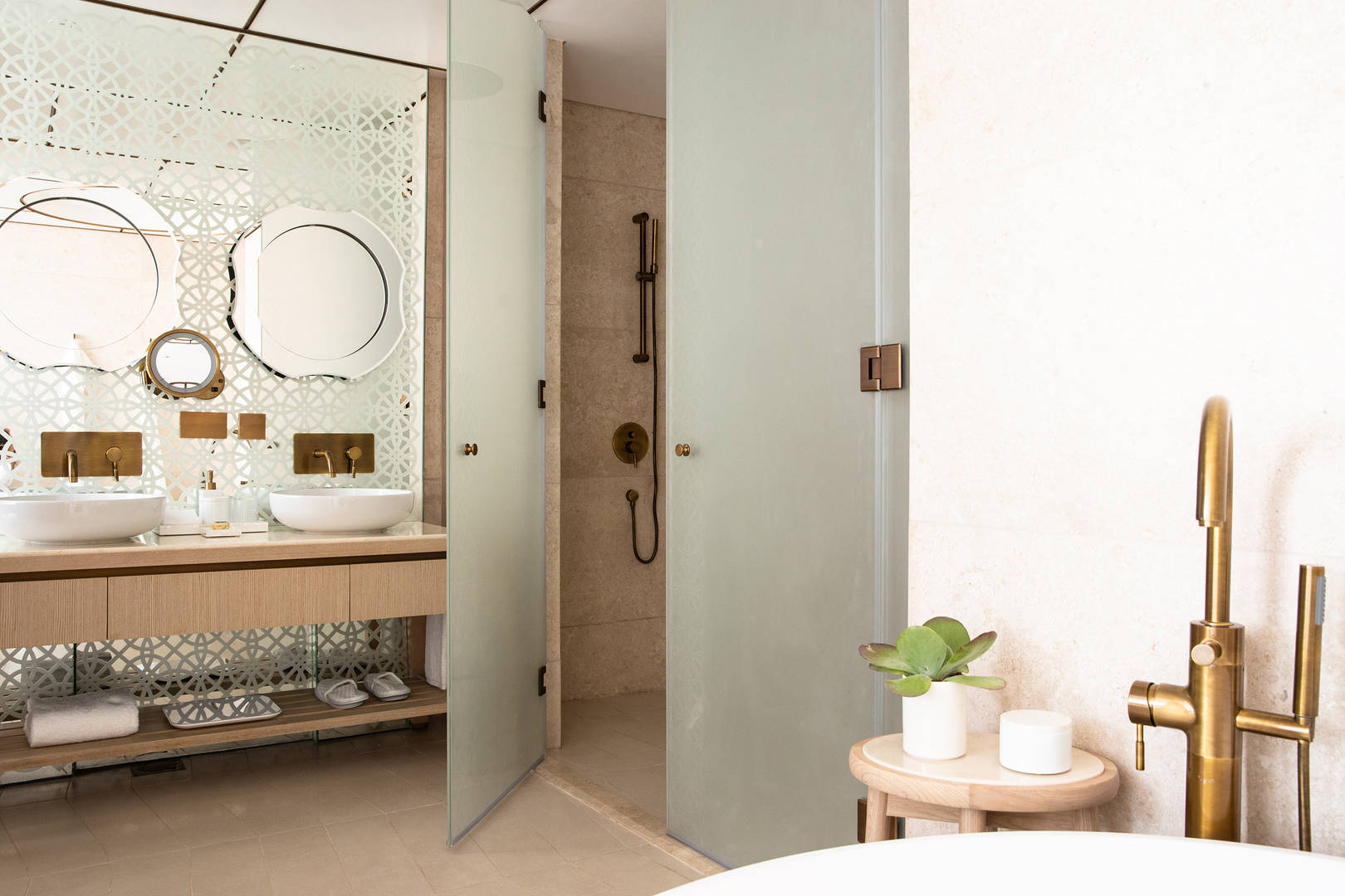 View of the Ocean Suite Bathroom at Jumeirah at Saadiyat Island Resort