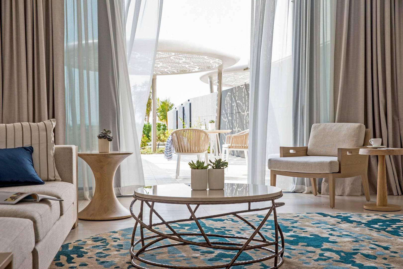 View at the balcony of the Ocean Terrace Suite at Jumeirah Saadiyat Island Resort