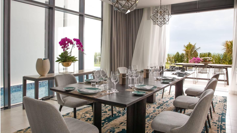 Three Bedroom Villa dining area of Jumeirah at Saadiyat Island Resort