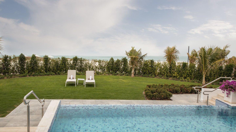 Three Bedroom Villa private pool of Jumeirah at Saadiyat Island Resort