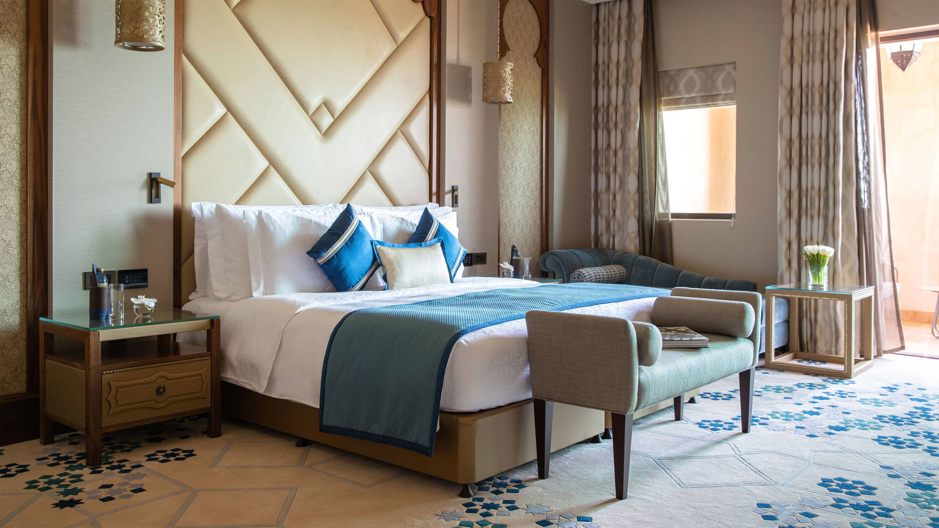 Presidential Suite Bedroom at Jumeirah Al Qasr