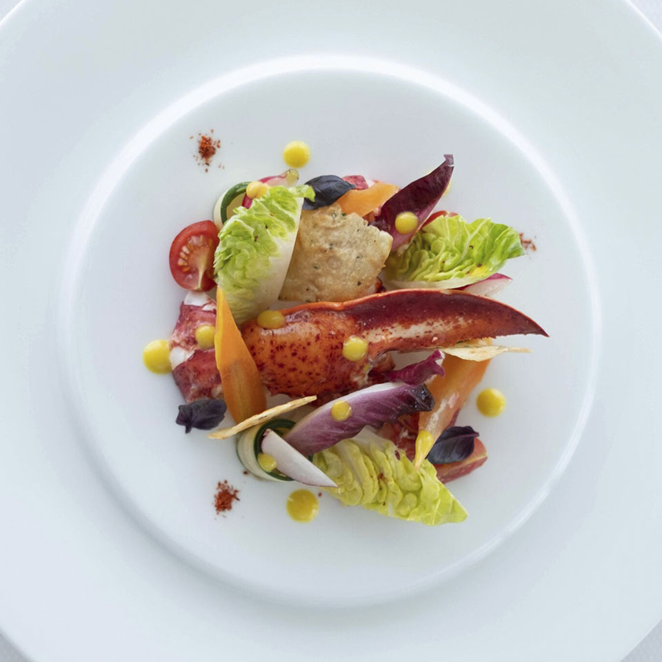 Burj Al Arab-Celebrity-Chef Kim Joinié-Lobster, crunchy vegetables and turmeric vinaigrette