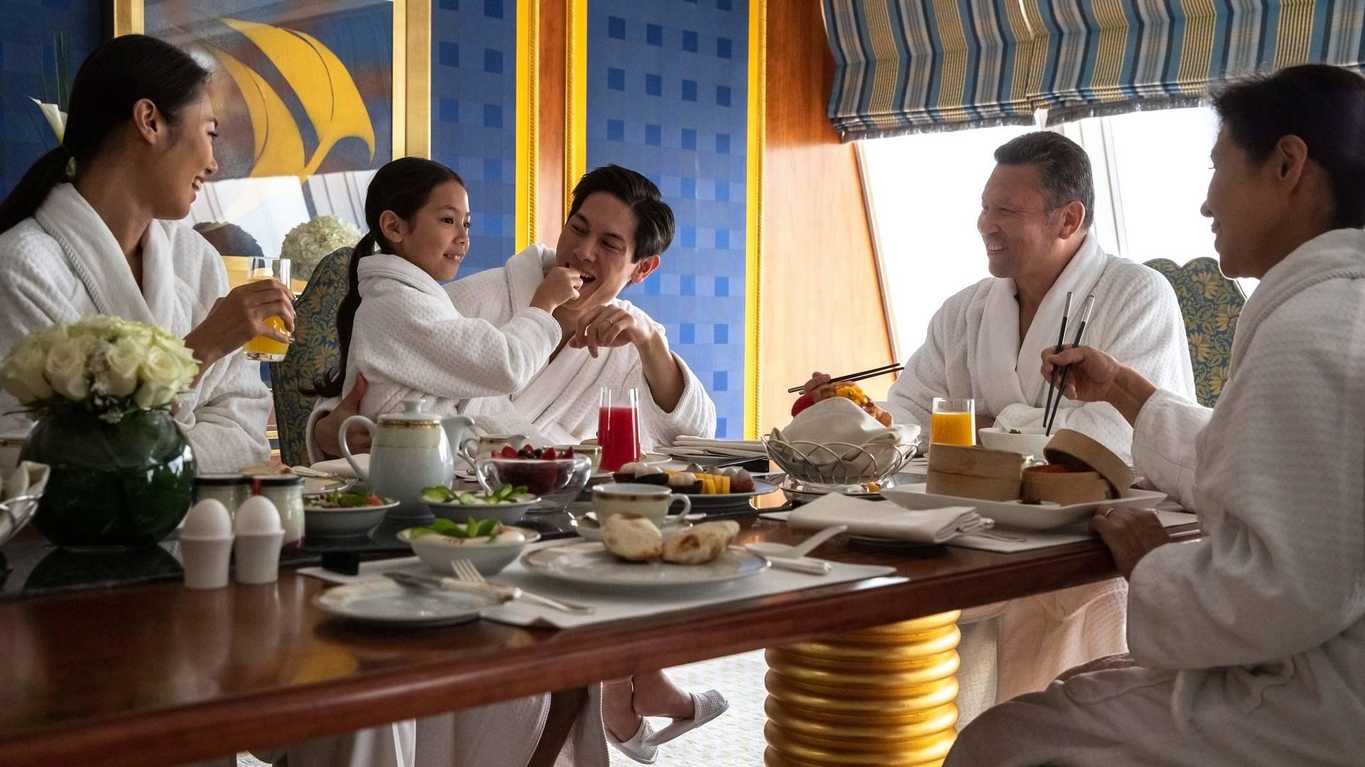 Jumeirah Burj Al Arab Three family room breakfast