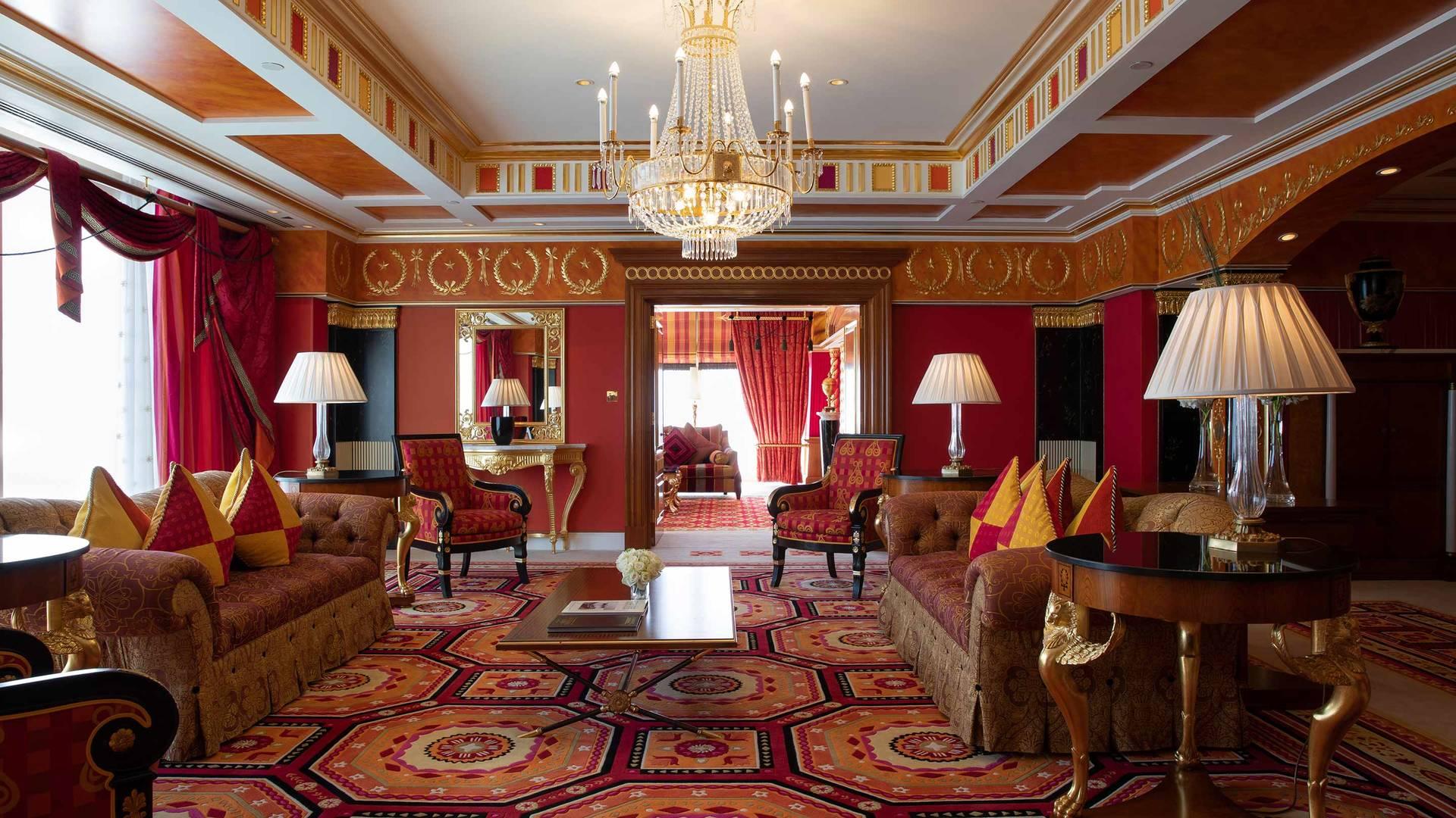 Jumeirah Burj Al Arab Royal Suite Living area