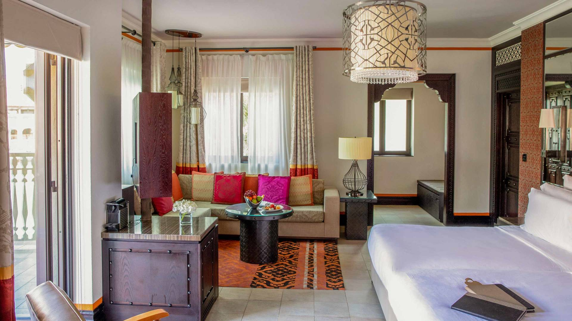 Jumeirah Dar Al Masayaf Arabian summerhouse Deluxe bedroom and living area