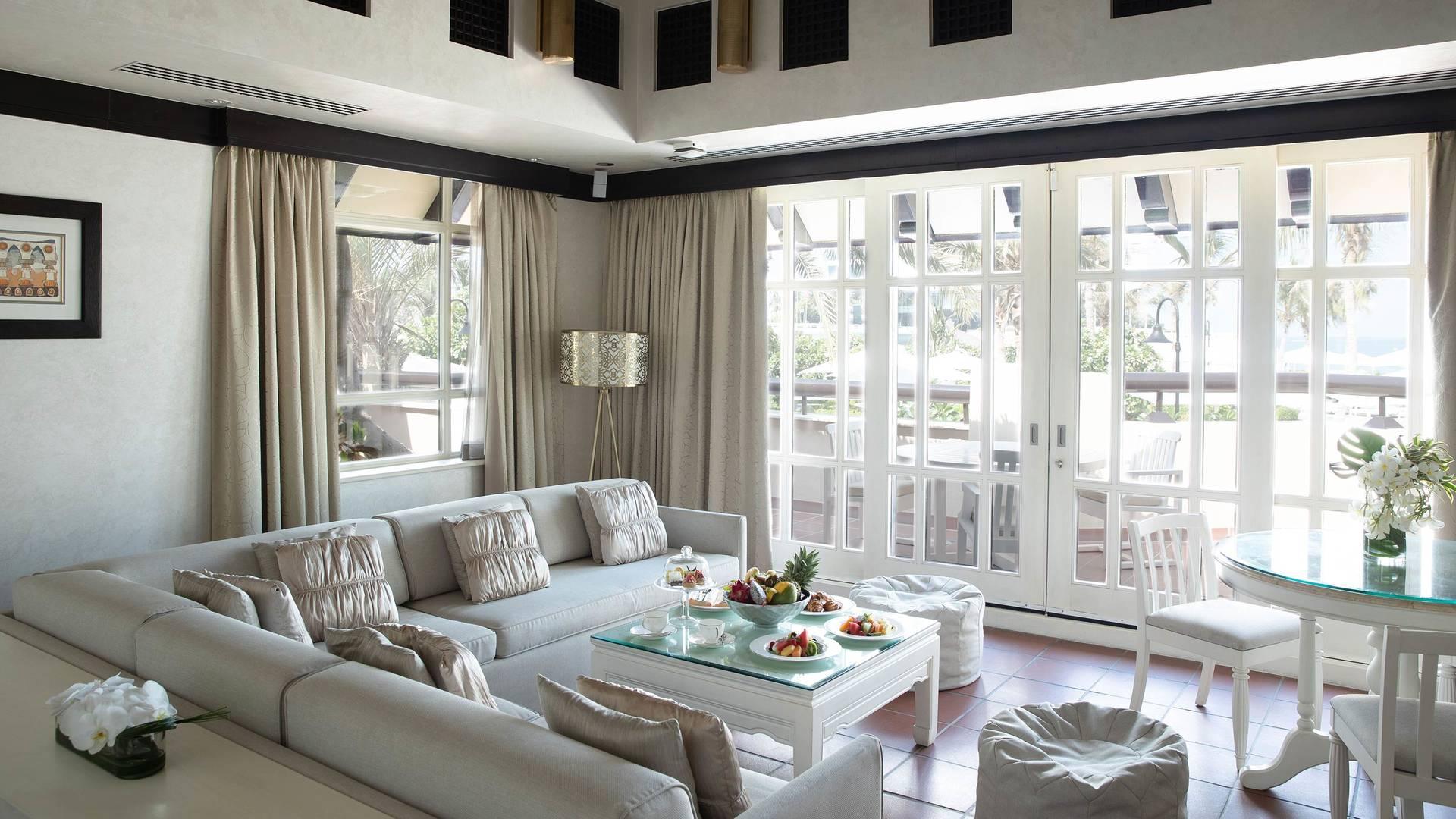 Exclusive living room in Jumeirah Beach Hotel two bedroom villa