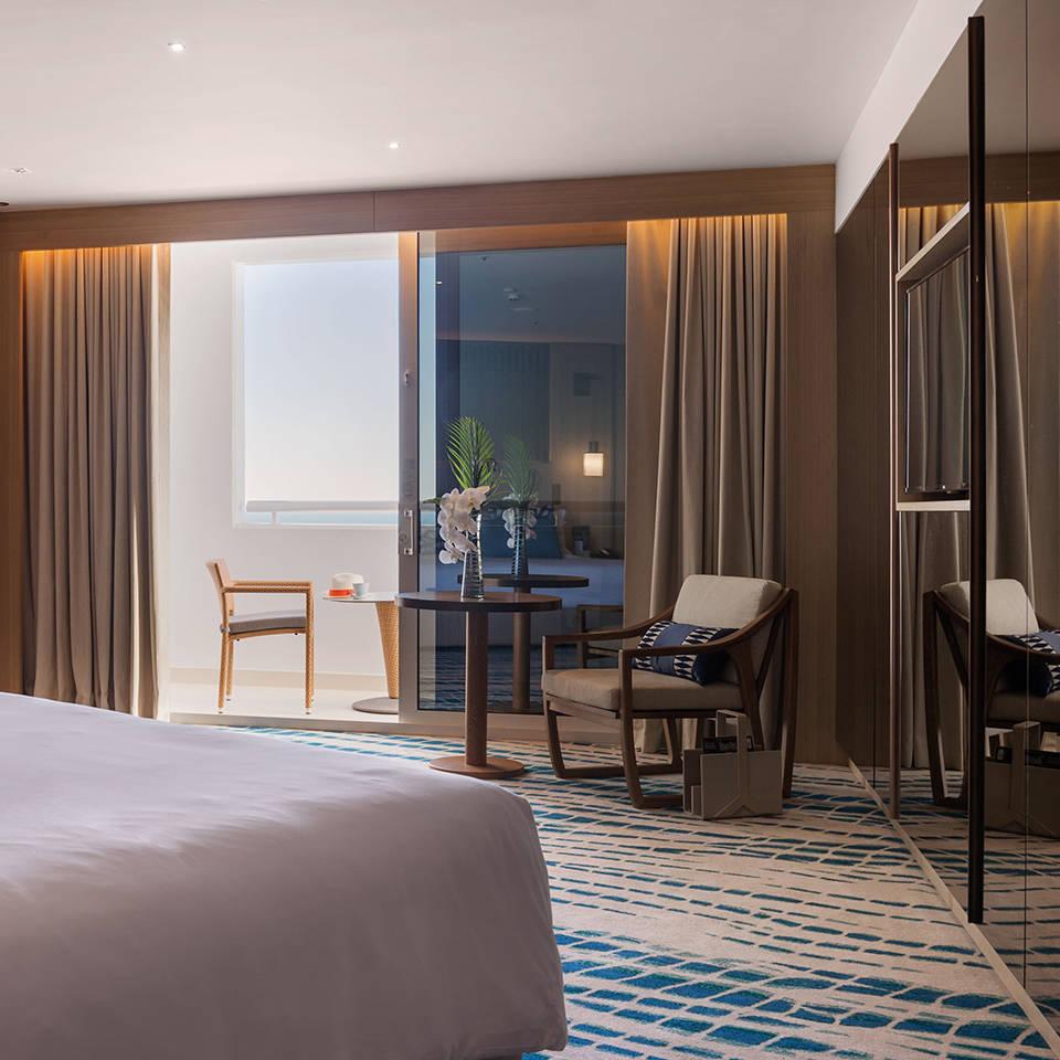 Balcony in the Ocean Deluxe Bedroom of Jumeirah Beach Hotel