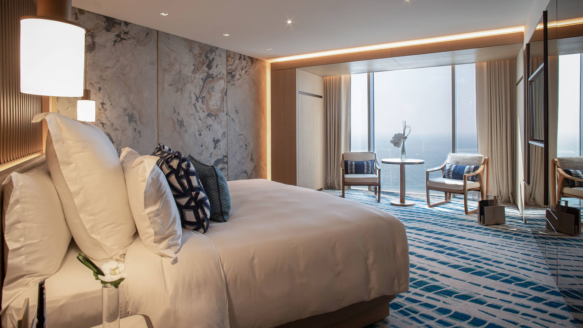 View of the Ocean Deluxe Room at Jumeirah Beach Hotel