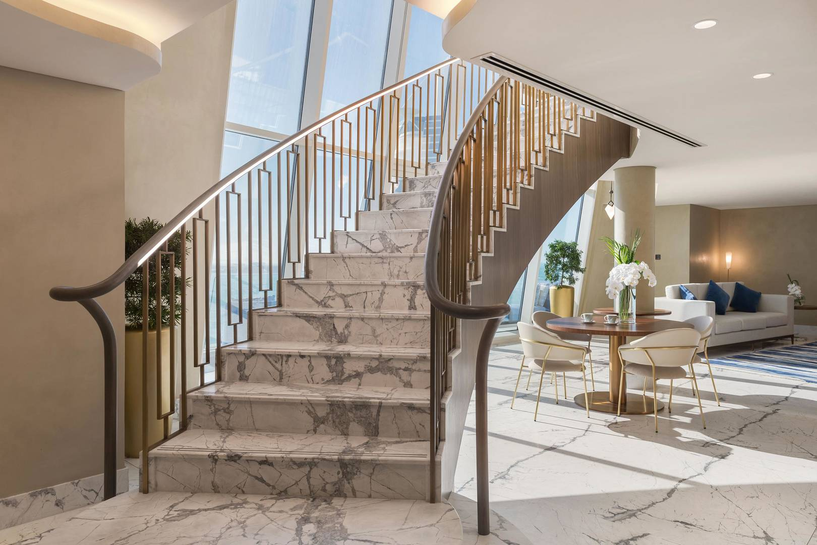 Staircase in the Presidential Suite of the Jumeirah Beach Hotel