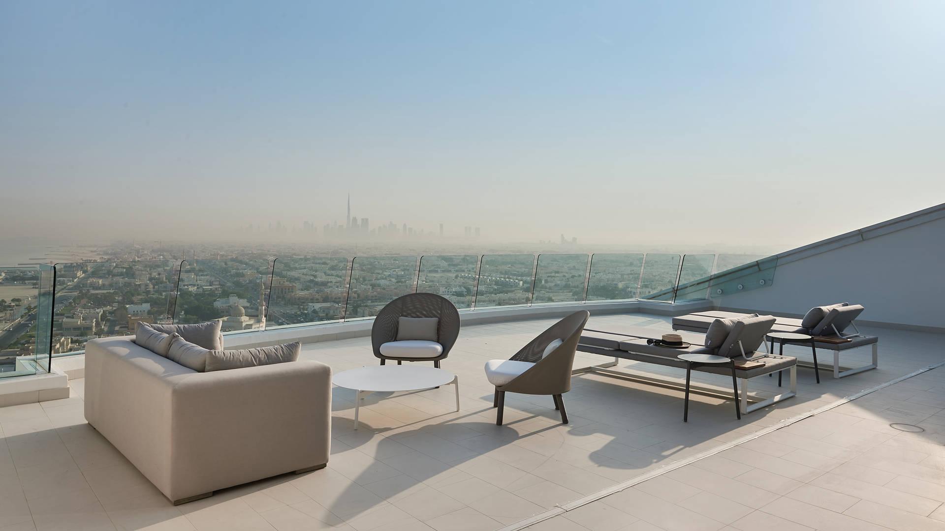 Dubai skyline from the Jumeirah Beach hotel Terrace