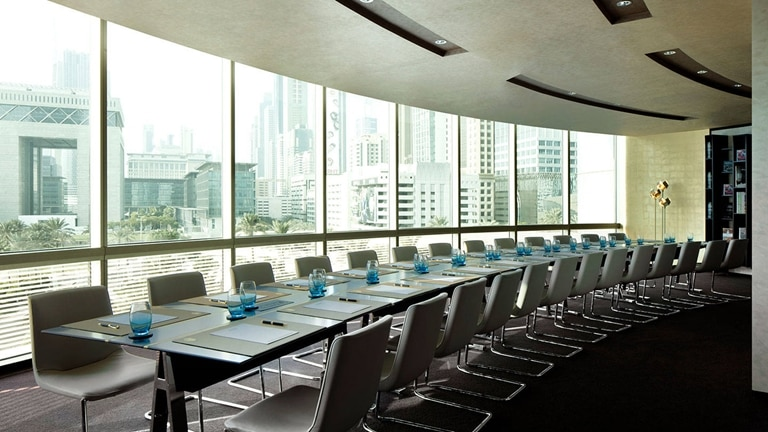Board room with a view at Jumeirah Emirates Towers