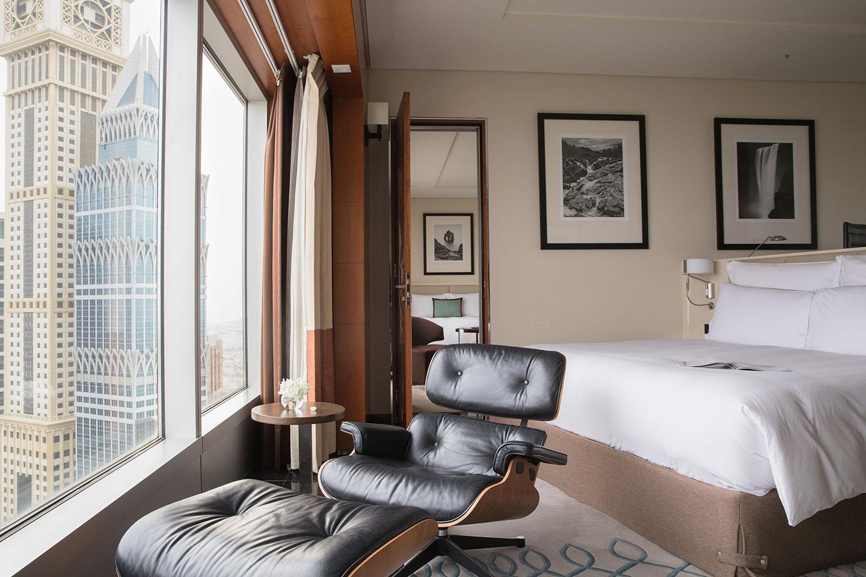 Jumeirah Emirates Towers Premium Deluxe Bedroom View