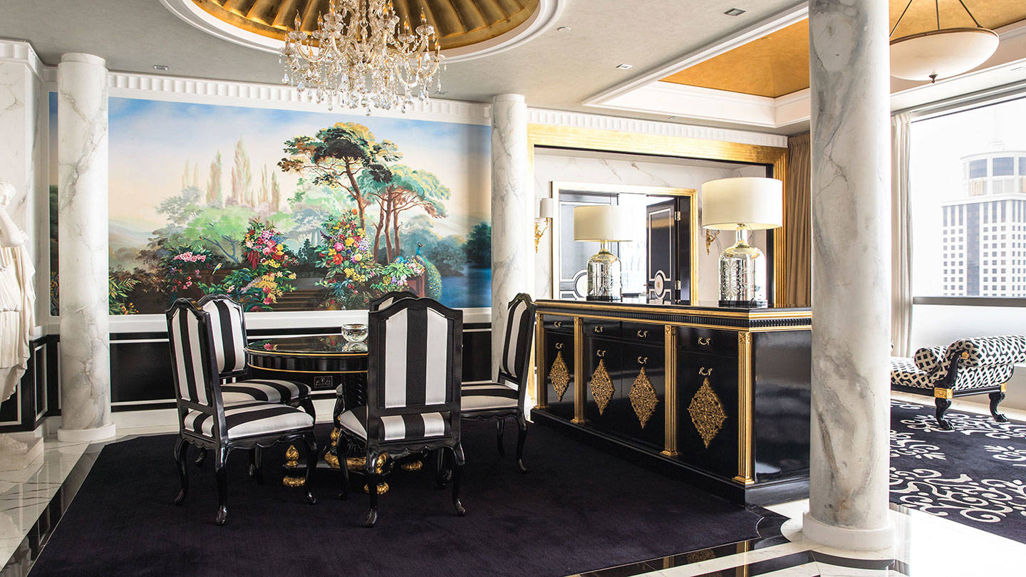 Jumeirah Emirates Towers Presidential Suite Versace Dining