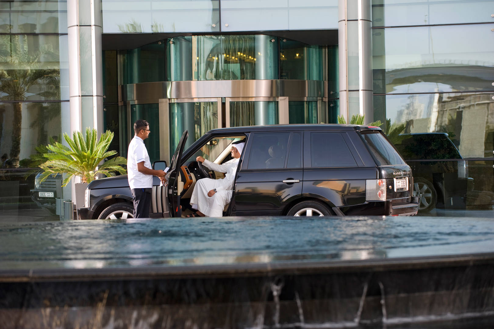 Guest arriving at the Jumeirah Living World Trade Centre