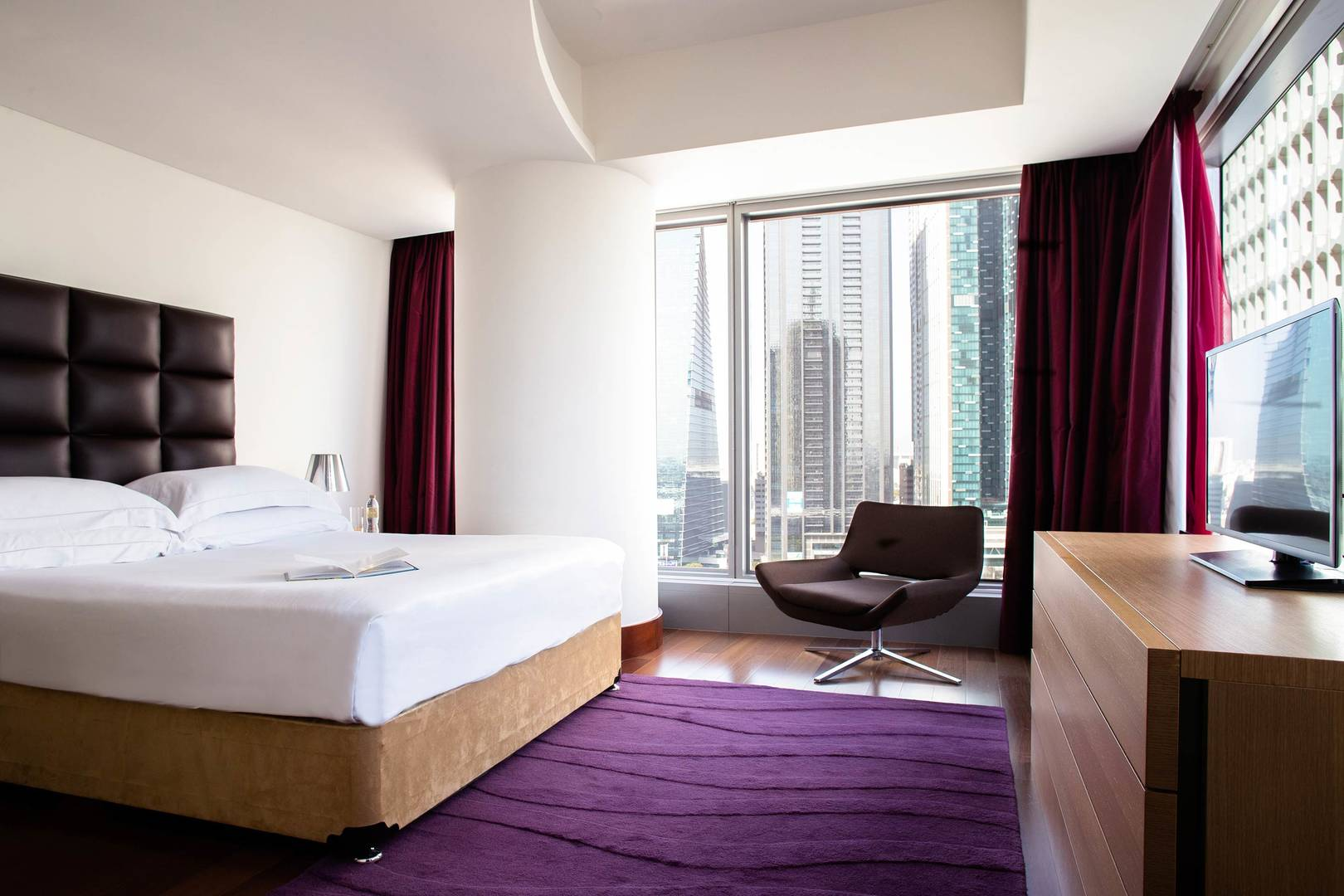 View of the master bedroom at the Two Bedroom Suit at Jumeirah Living World Trade Centre