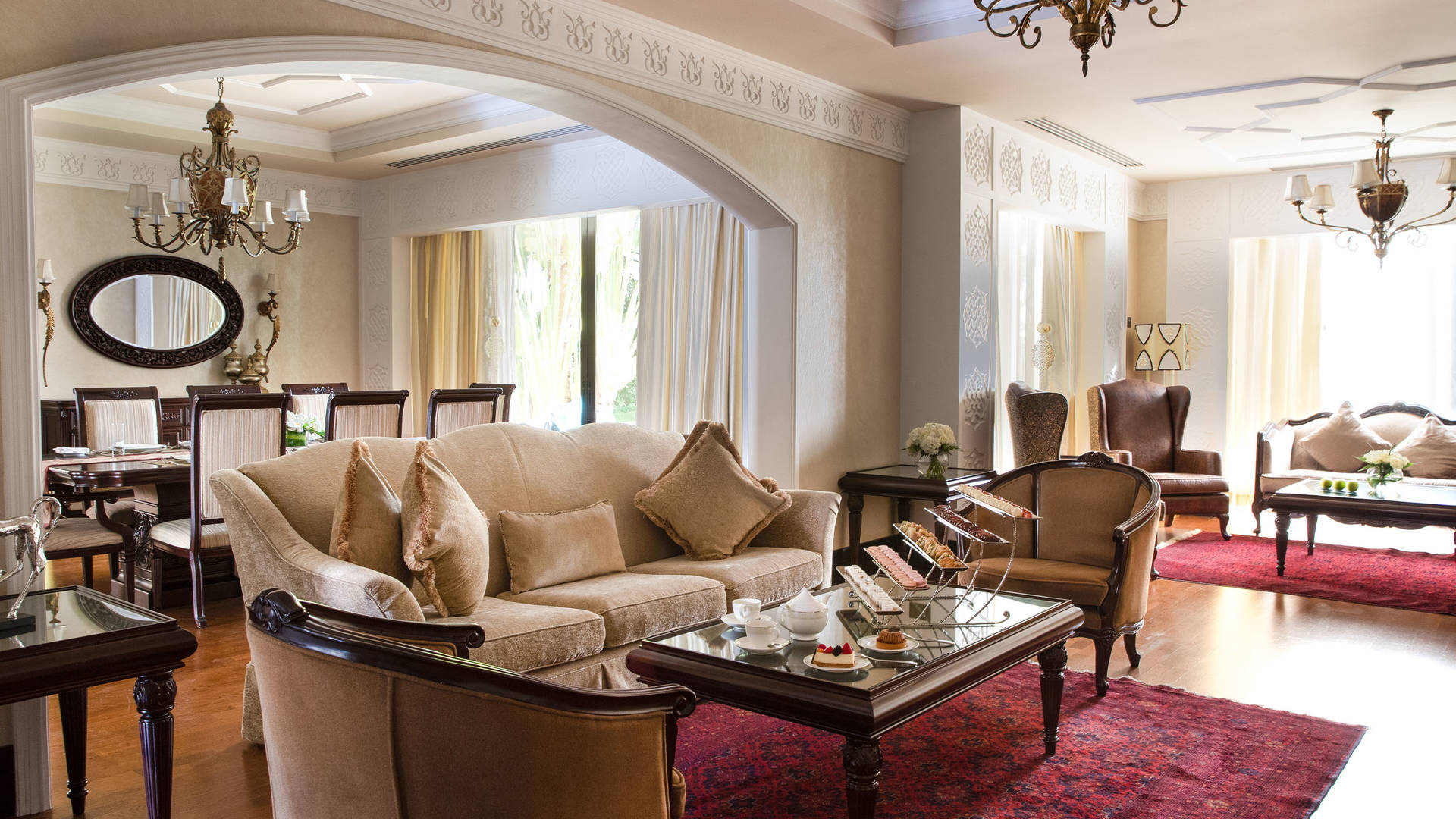 Jumeirah Zabeel Saray Royal Residence Beachview living room area