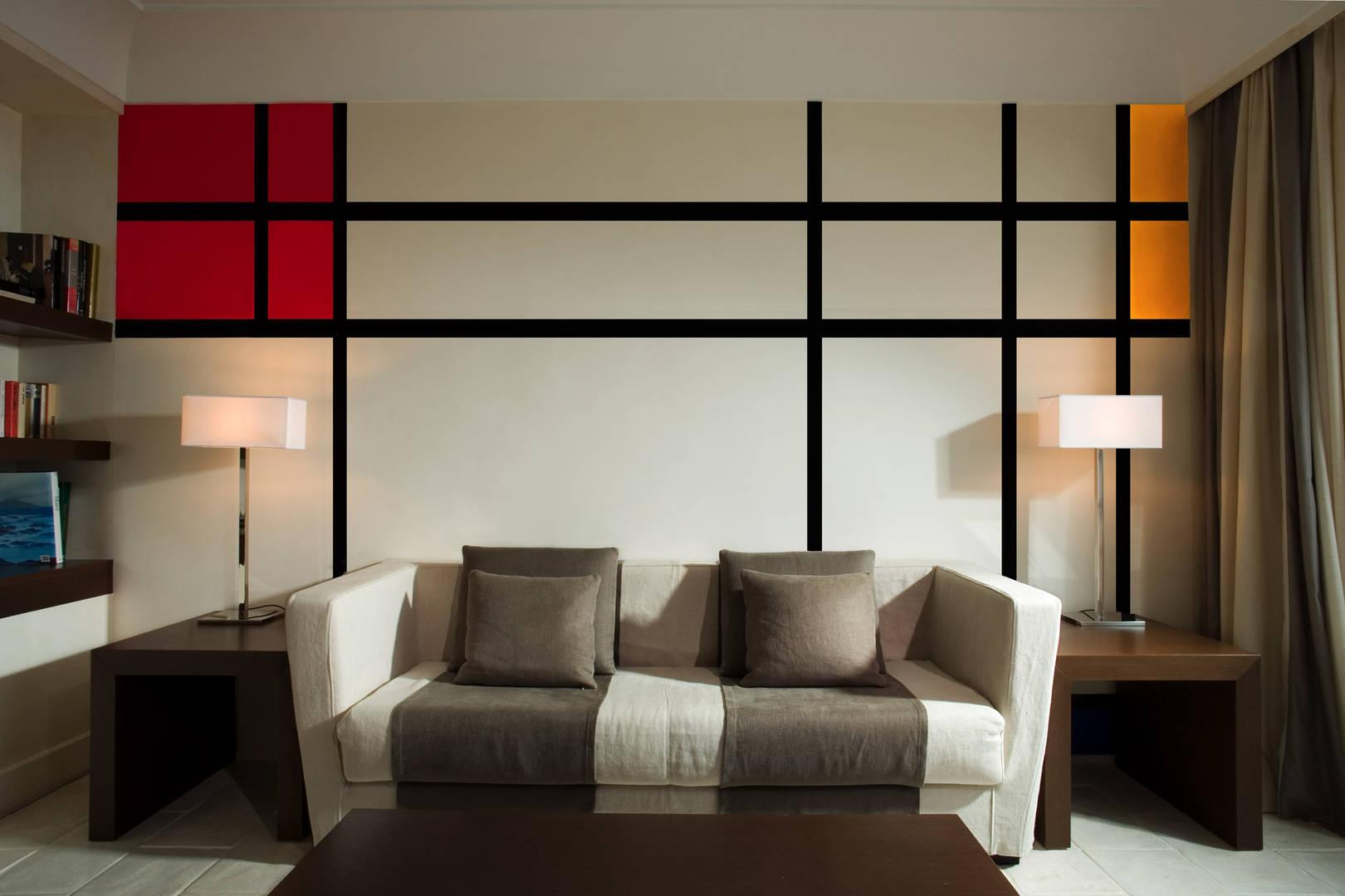 Art Suite Mondrian living room