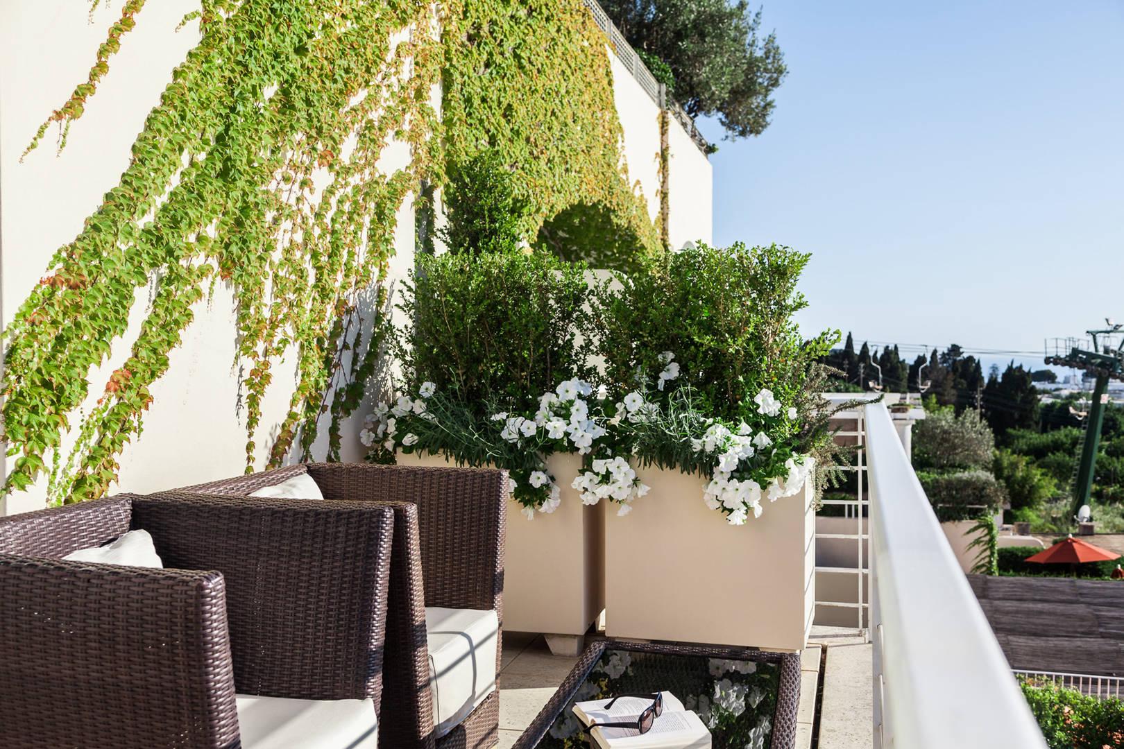 Capri Palace Jumeirah Monroe Suite sea side Balcony