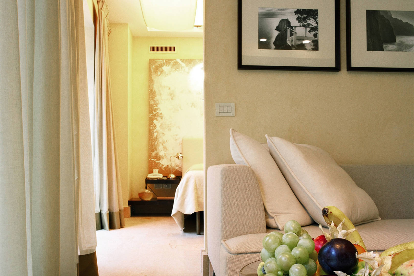 Capri Palace Jumeirah Suites wth Private Pool and Garden Athena Living Area