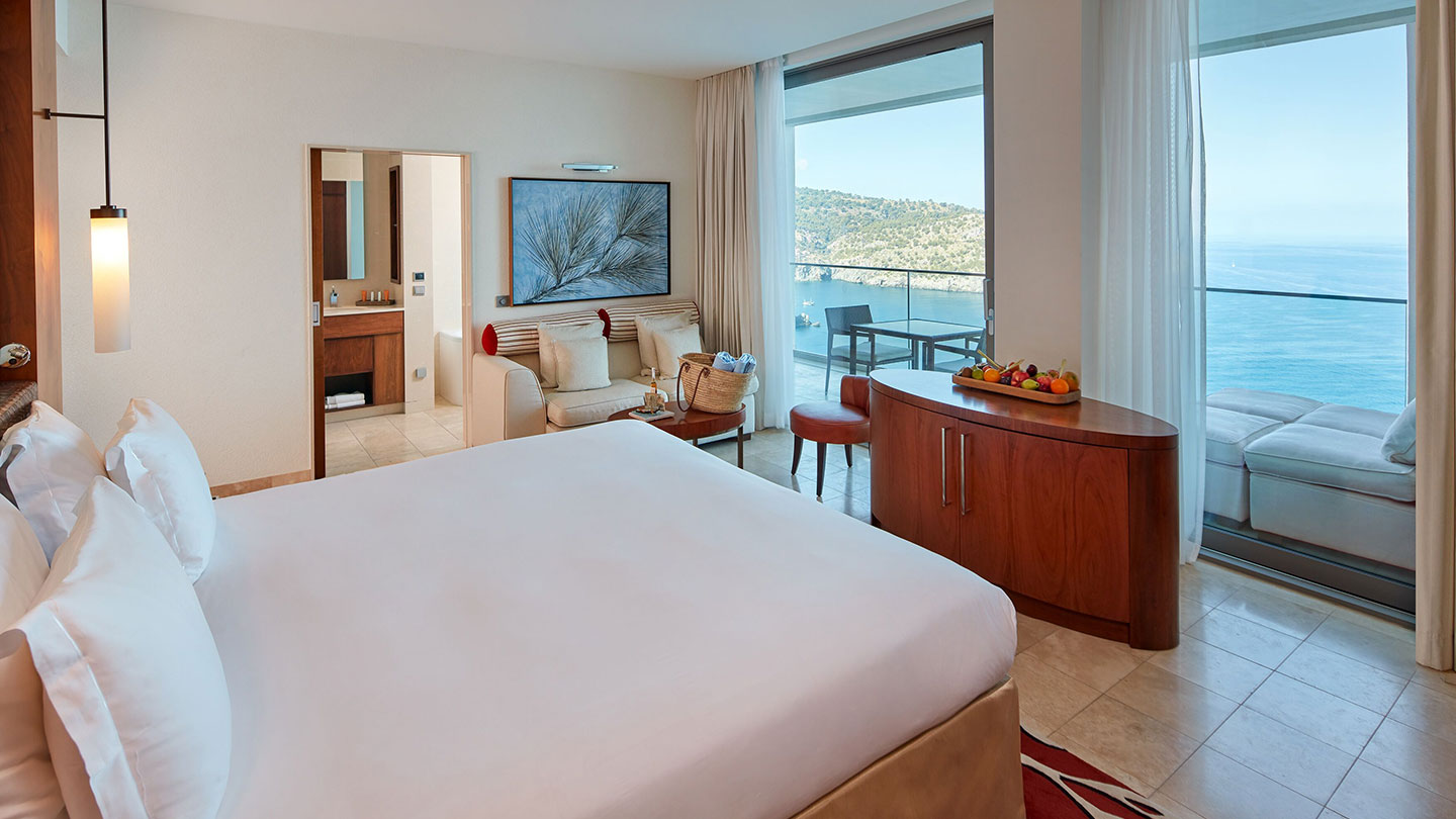 Grand Deluxe sea view room at Jumeirah Port Soller Hotel & Spa
