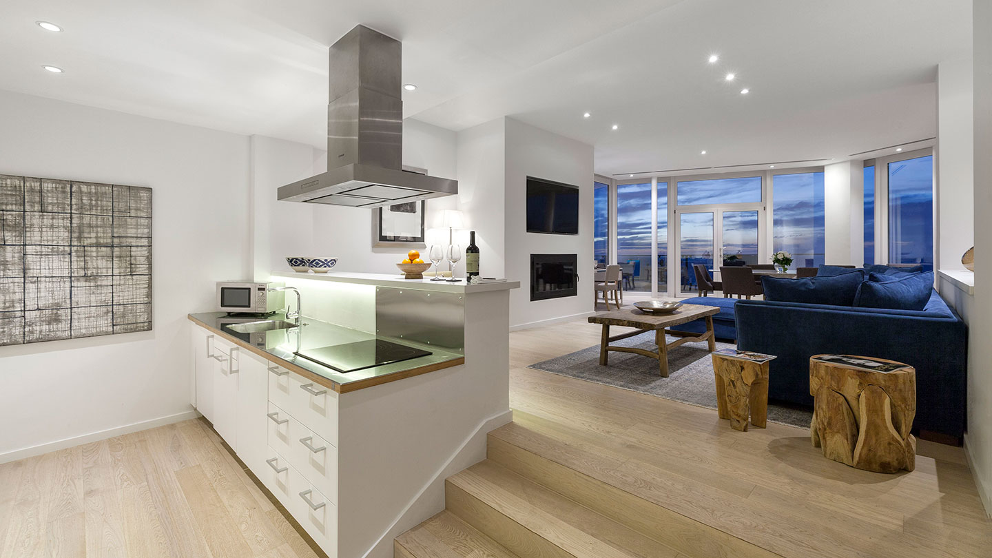 Jumeirah Port Soller Mar Blau Suite Kitchen and Living Area