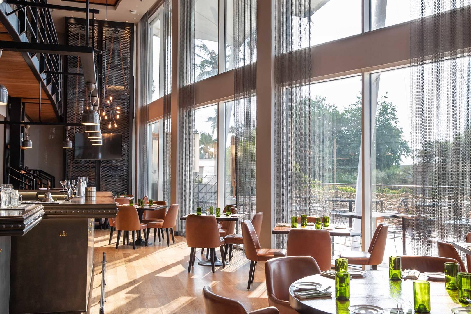 Interior of the D&A Restaurant at Jumeirah Beach Hotel